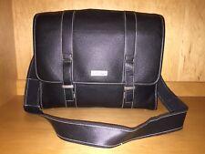 "Kenneth Cole Black 16"" Large Briefcase Document Messenger Bag Business Case New"