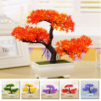 Fake Artificial Plant Bonsai Small Tree Pot Plants Fake Flowers Home Table Deco