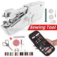 Mini Cordless Sewing Machine Portable Handheld Hand Held Stitch Home Clothes !