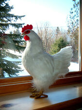 REALISTIC Large White CHICKEN Hen REPLICA Prop Figurine ck06wh FREE SHIPPING USA