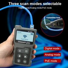 Nf 8209 Lcd Display Measure Length Lan Poe Wire Tracker Cable Tester Cat5 Cat6