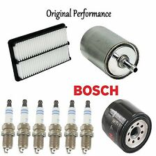 Tune Up Kit Air Oil Fuel Filters Spark Plugs for Isuzu VehiCROSS 1999-2001