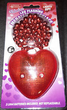 Magic Seasons Led Flashing Red Heart Valentine Medallion Necklace, Ages 8+, New
