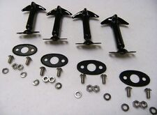 1932 Ford Car & Pickup Truck Hood Latch 4 Pieces BLACK Pads and Screw Kit Deuce