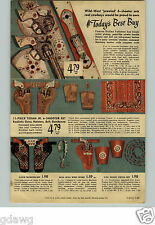 1949 PAPER AD Toy Gun Hubley Holster 6-Shooter Texan Jr Pistol Rodeo Spurs