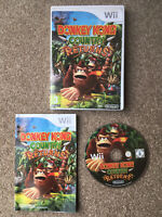 Donkey Kong Country Returns Nintendo Wii Game With Manual Tested PAL