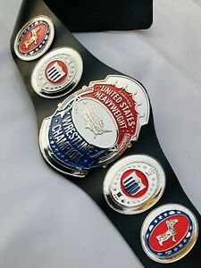 United States Heavyweight Wrestling Championship Belt Replica, 4mm Zinc Plates