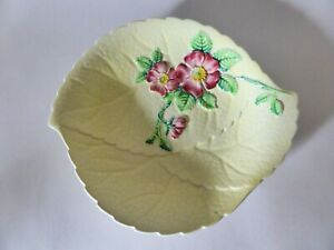 Carlton Ware Yellow Primrose Serving Dish, 1930s, Vintage, Hand Painted Plate