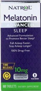 NATROL 10mg 60 TABLETS ADVANCED  SLEEP NIGHT TIME SLEEP AID FAST POST