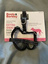 New Black Boots & Barkley Extra Small Dog Harness Adjustable Reflective Step In