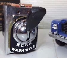 Classic Kit Car Lucas Type Switch Rear Wash Wipe Wiper & Metal Tab Tag Label