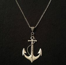 "Large Anchor Necklace 30"" Nautical Rockabilly Pin Up Sailor Vintage Unusual *UK"