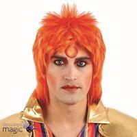 1970s Glam Rock David Bowie Red Ginger Spiked Punk Rocker Music Fancy Dress Wig