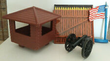 Lot of 4 misc. items for 1968 Marx Carry All Action Fort Apache Play Set #4685
