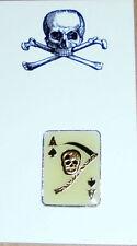 Secret Occult Ace Spade Card Grim Reaper Biker Club Member Skull Death Pin Gang