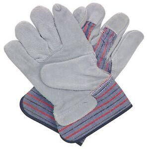 Leather palm Candy Work Gloves x 1 Pair