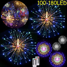 Firework Hanging Starburst LED Wire 8 Modes Remote Control Party Decore Lights