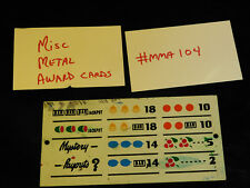 DAMAGED ANTIQUE SLOT MACHINE REPRO MISC MIXED METAL AWARD CARD #MMA104