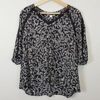 [ COUNTRY ROAD ] Womens Ditsy Palm Print Top | Size AU 8 or US 4