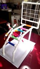 Climber PVC Parrot Perch  Stand  Play Gym wNet on Pan   **FREE SHIPPING!**