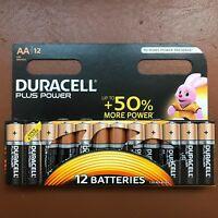 12 x Duracell AA Plus Power Alkaline Batteries LR6, MN1500 Longest Expiry UK