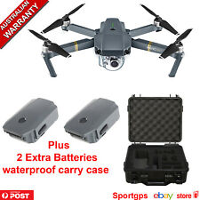 DJI MAVIC PRO DRONE 4K CAMERA + 2 EXTRA Batteries + Waterproof Carry Case