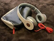 BEATS SOLO HD HEADPHONES White/Grey/Red - Open Box - Tested & Never Used