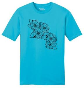 Mens Daisy Flowers Graphic Soft Tee Floral Floral Design