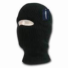 Black 1 One Hole Winter Cold Weather Knit Face Mask Stocking Cap Balaclava