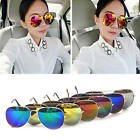 Fashion Unisex Women Men Aviator Mirror Lens Sunglasses Glasses Vintage Retro