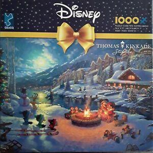 Ceaco 1000 Piece Jigsaw Puzzle-Disney-Mickey & Minnie Christmas Lodge