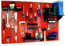 Wall Control Pegboard Red Metal Standard Tool Storage Kit Black Peg Accessories