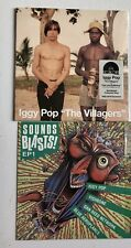 "IGGY POP - THE VILLAGERS 7"" RECORD NOd COLOURED NEW/SEALED + Sounds Blasts Ep"