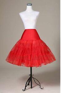 Red Tulle skirt tutu ballet skirt crinoline petticoat underskirt  Size S-M UK