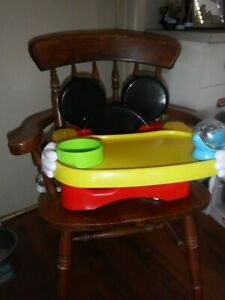 Mickey Mouse  Portable And Adjustable High Chair Great condition