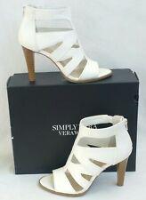 Simply Vera Wang High Heels Dragon White Womens Size 7