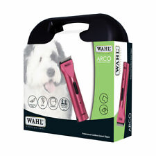 Wahl Arco Clipper Kit For Dogs Adjustable Blade rust resistant 2 Batteries Pink
