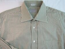 TASCA COLLECTION Mens Dress Shirt Size 17/43 Italian Luxury Made in Italy Green