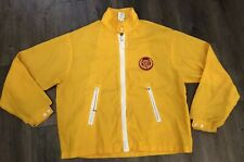Vintage 70's Cadillac Yellow Advertising Nylon Racing  Jacket Cap N Joc Size XL