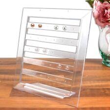 30 Hole Earring Display Stand Clear Acrylic Jewellery Holder Stud Rack Organiser