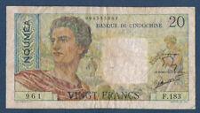 NOUVELLE CALEDONIE - NOUMEA.20 FRANCS Pick n° 21.c de 1951/1963 en TB F.183 961