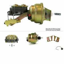 """58-64 Chevy Bel Air FW Mount Pwr 7"""" Dual Brake Booster Kit Drum/Drum Bubble Top"""