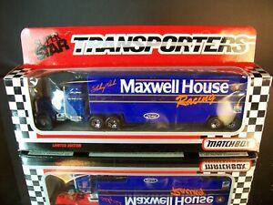 Sterling Marlin #22 Maxwell House 1991 1:87 Racing Team Transporter Matchbox