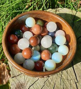 Crystal Marbles - Opalite, Carnelian, Rose Quartz etc.. Free P&P