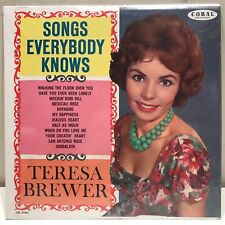 "Teresa Brewer ""Songs Everybody Knows"" LP Coral CRL 57361 NM top copy 1S/1S"