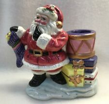 Omnibus Fitz & Floyd Santa With Presents Candlestick Holder