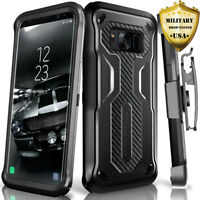 Rugged Phone Case for Samsung Galaxy S8 Cover w/Belt Accessories Holster Clip
