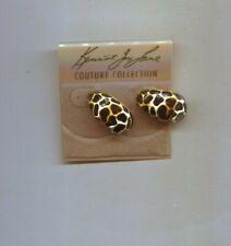 Print pierced earrings Kenneth Lane Cheetah Leopard