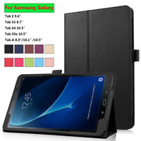 Tablet Cover Leather Case For Samsung Galaxy Tab A 8.0/10.1/10.5 S3/S4/S5e 2019