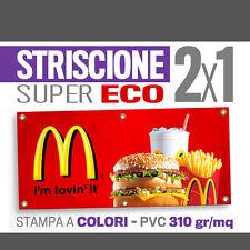 STRISCIONE PUBBLICITARIO 2x1 MT banner pubblicitari striscioni stadio pvc 8039
